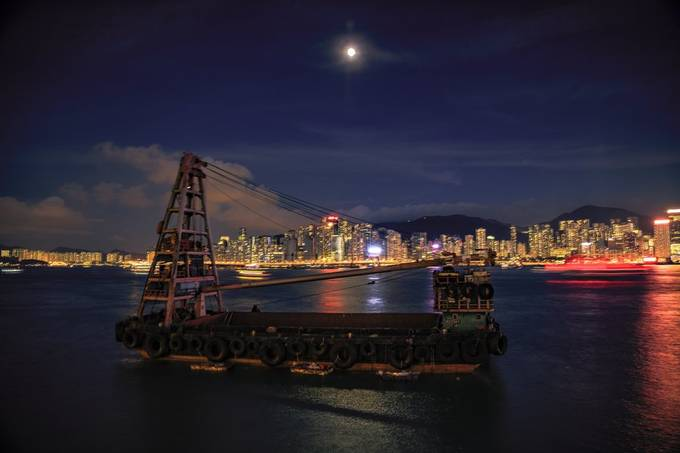 The Barge  by AMagaglio - Bright City Lights Photo Contest