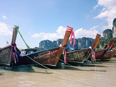 A ship ashore in Thailand