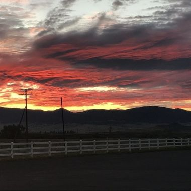 Cotton Candy Skies and White Fences