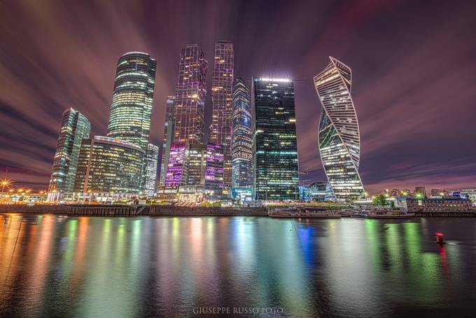 Delovoy tsentr - Mosca by giusepperussofoto - Bright City Lights Photo Contest