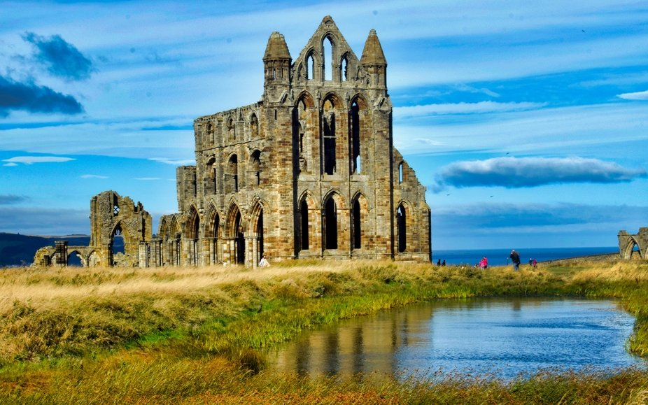 Whitby Abbey on a sunny, windy September day