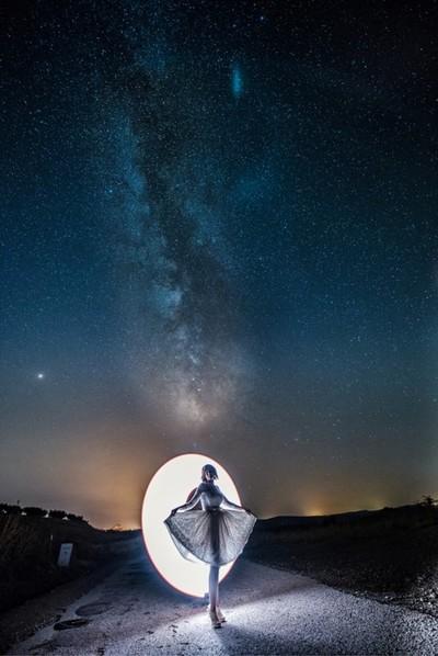 Bride under the stars