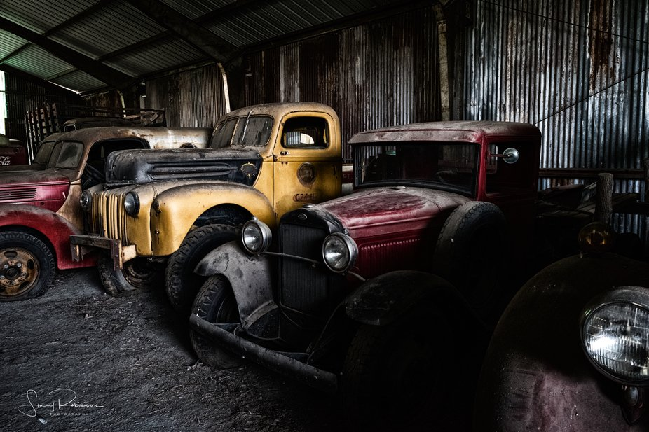At the truck graveyard in Columbia, VA.