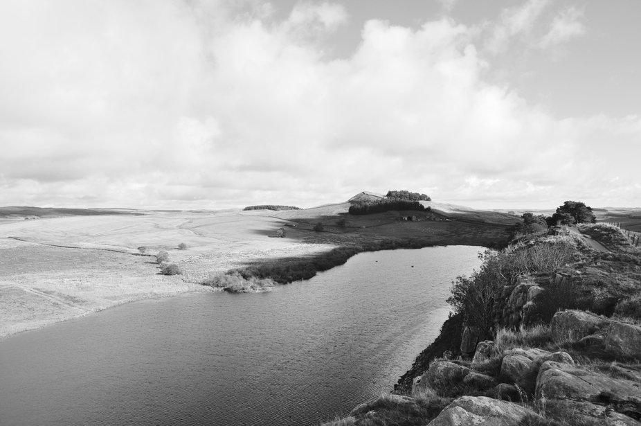 Below Hadrian's Wall, looking North