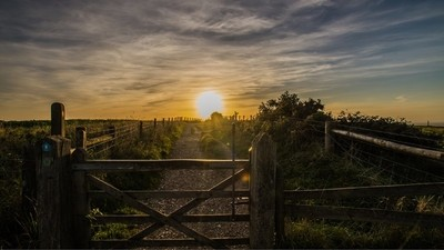 Sunset whilst out in East Sussex walking
