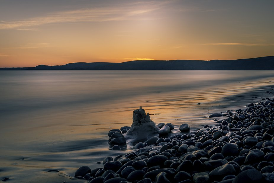 Taken at Newgale beach,a lovely summers evening. walking along the beach I spotted this lonely sa...