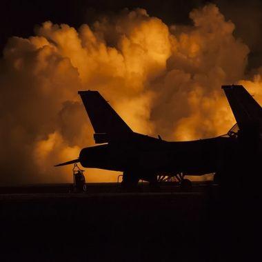 Jet Airplanes at Night