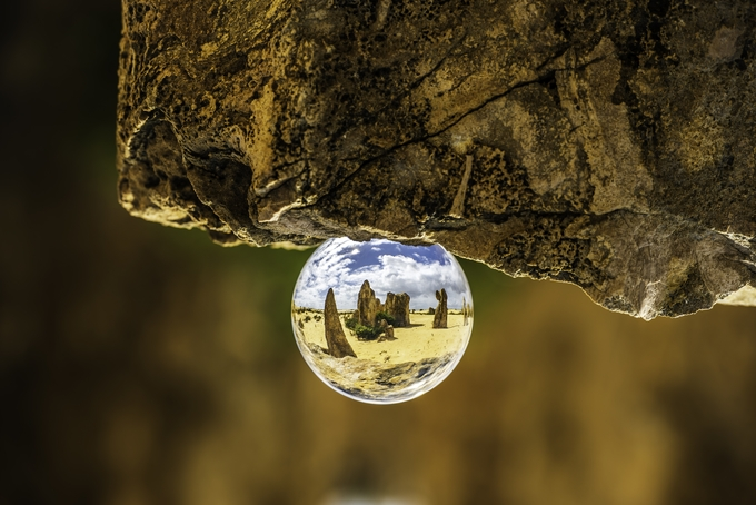 Pinnacles through lensball by KanaPhotography - Stillness Photo Contest
