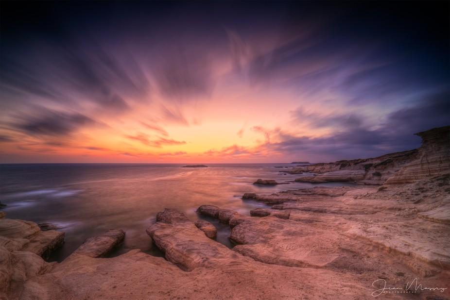 Towards - Sunset. On Camera multi-exposure