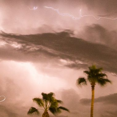 9/30/2018's lightning show from Palm Desert, CA. Without a doubt, this was the most exciting show of lightning I have ever seen. This show lasted over an hour's time and did not allow me to get myself/camera to a better vantage point in order to take better pictures. With lightning happening 3-4 times per second for well over an hour, it sure turned out to be one heck of a show last night.