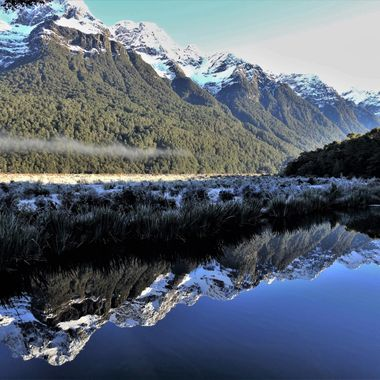 Taken at Mirror Lakes on the road to Milford Sound.