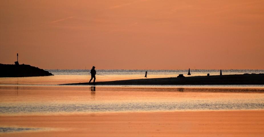 Evening fishing. Truro.