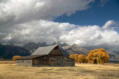 Abandoned Barn at Gros Ventre, WY early autumn