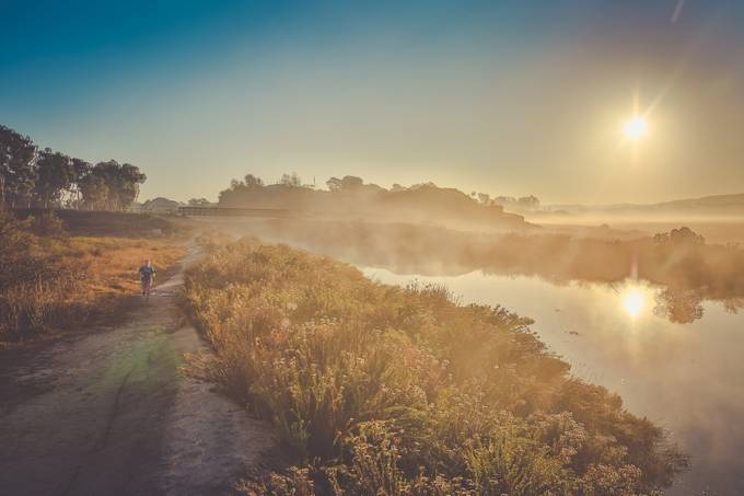 Running through the mist by vanessasiggardkay - A Walk In The Mist Photo Contest