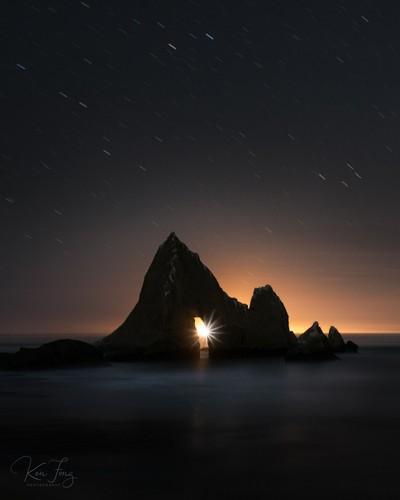 Martins Moonset