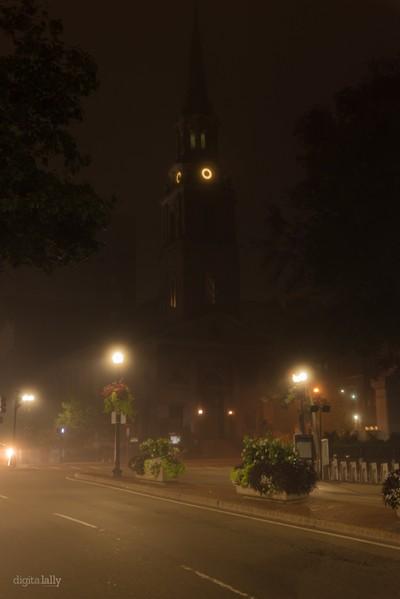 Foggy Arlington Church