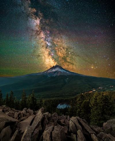 Mirror Lake Milky Way
