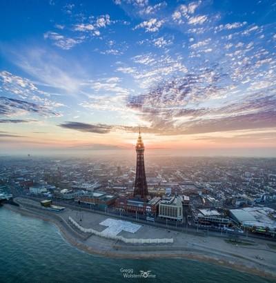 Blue skies Blackpool
