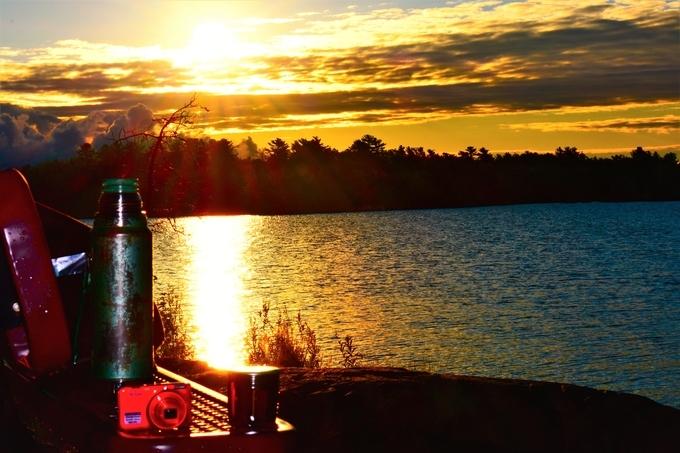 Sunrise in Voyageurs Nat'l Park Black Bay, Rainy Lake