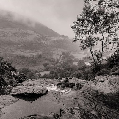 Looking out over the top of Pistyll Rhaeadr  #pistyllrhaeadr #landscapephotography #monochrome #blackandwhitephotography #waterfall #getoutside #intaphotography #wetsunday #worldwaterweek