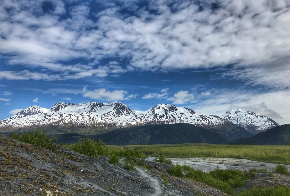 view from the Harding Ice Field, Seward AK.