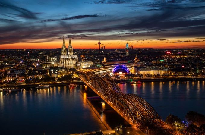 Cologne at Sunset by igorbabichenko - Bright City Lights Photo Contest