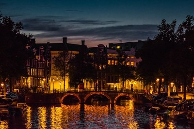 Twilight over the canal