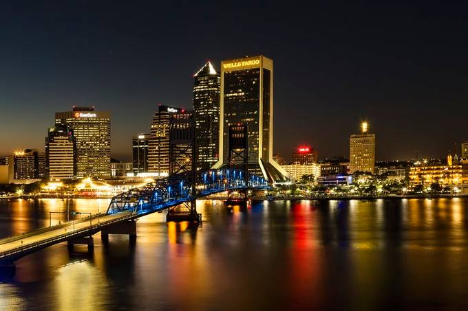 Jacksonville, Florida City Lights by KayBrewer - Bright City Lights Photo Contest
