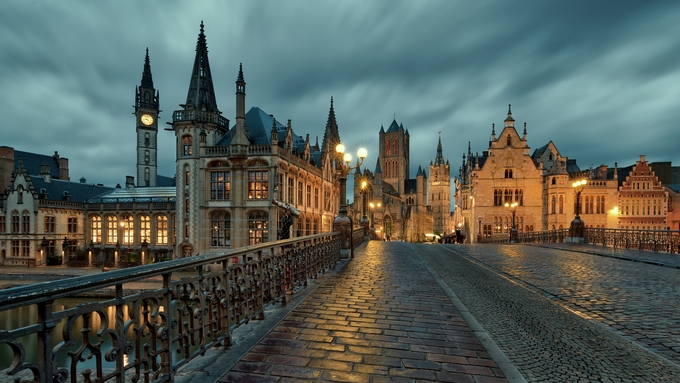 Sint-Michielsbrug by Eduard_Gorobets - Bright City Lights Photo Contest
