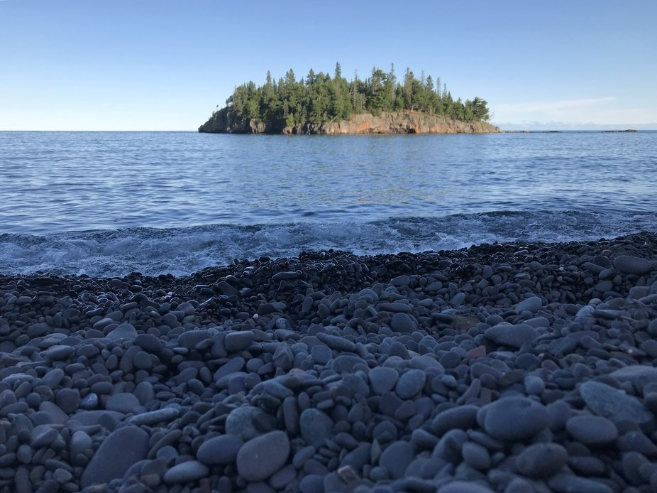 A small island in Northern Minnesota. Located near Split Rock Lighthouse in the Great Lake Superi...
