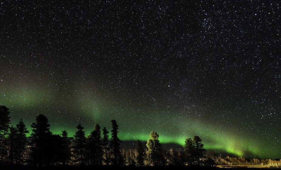 Aurora Borealis, Fairbanks, Alaska drive by