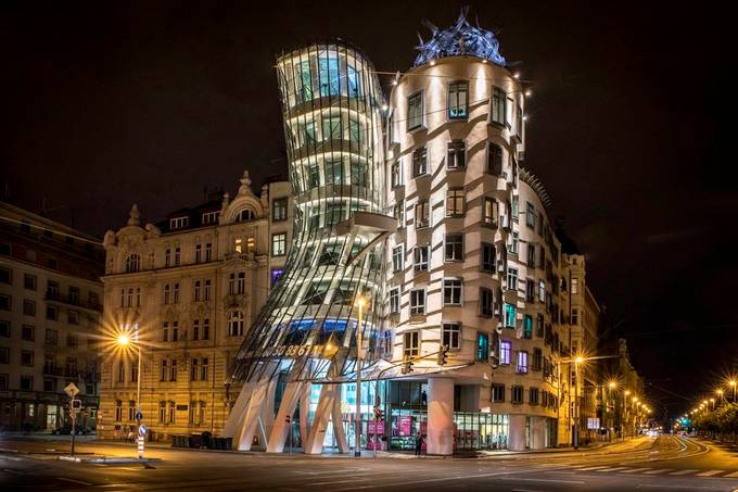 Dancing house Prague by martinoltys - Bright City Lights Photo Contest