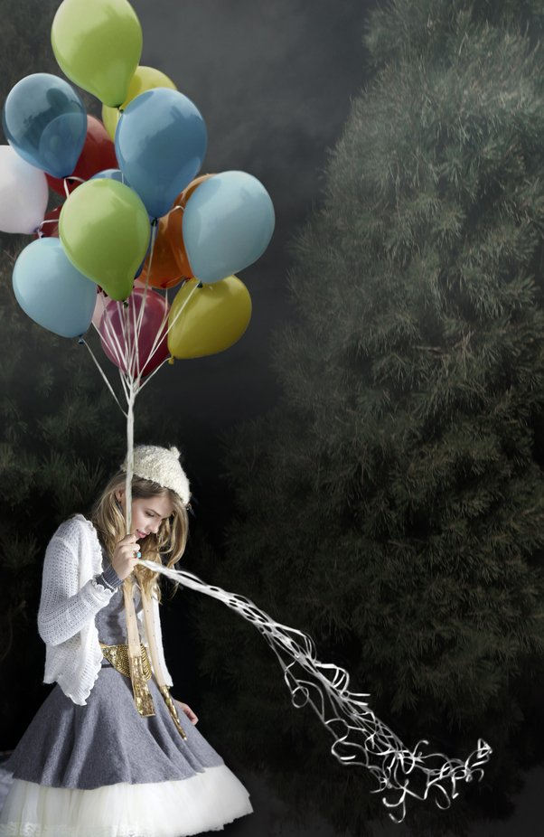 Balloons in the woods by FruitCocktailCreative - The Colors Photo Contest