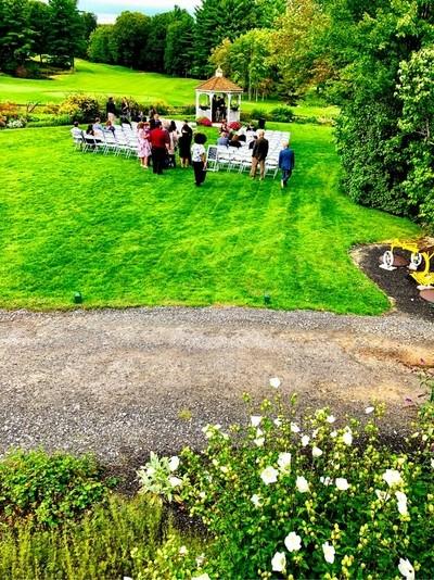Outdoor Garden Wedding at Blissful Meadows Golf Course in Massachusetts
