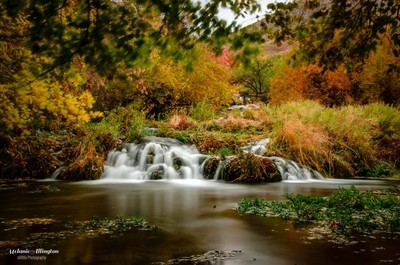 Cascade springs in Autumn
