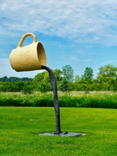 Road-side Cuppa. Nyberg Sculpture Park outside Vining, MN