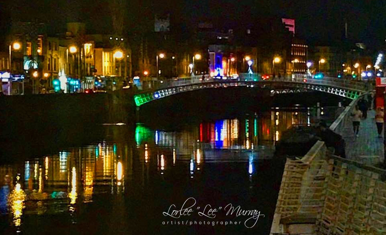 Love the lights and reflection - the beauty of Dublin at night