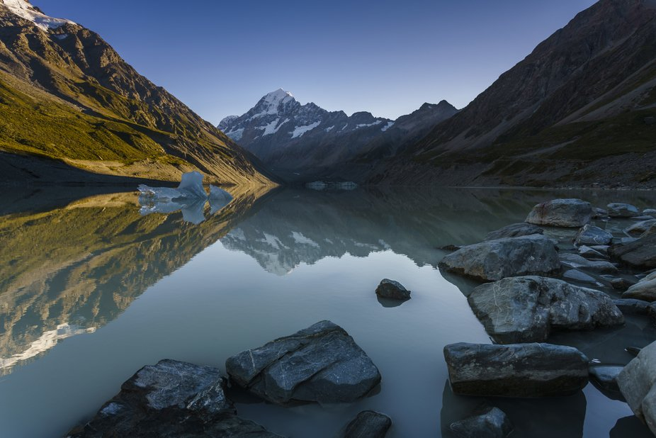 Hooker Lake, Mt. Cook National Park, new Zealand