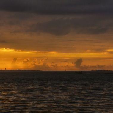 Sunrise on a rainy morning in Charleston