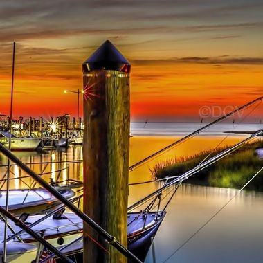 sunset at Rock Harbor, Orleans Mass Cape Cod