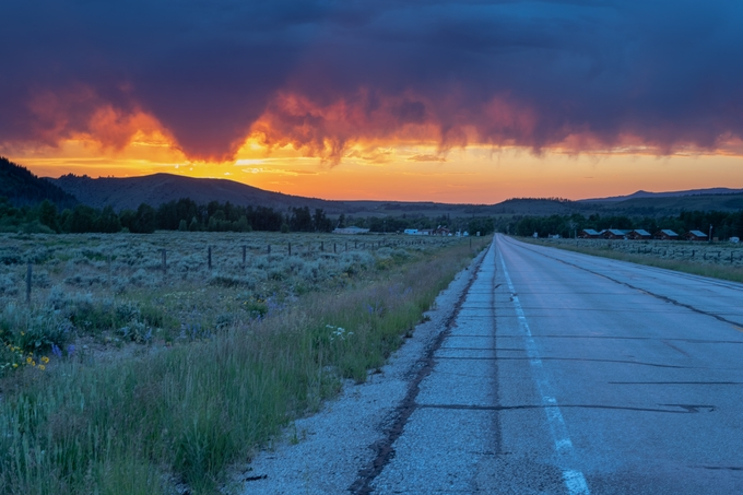 Summer Sunset by HappyTree - Straight Roads Photo Contest