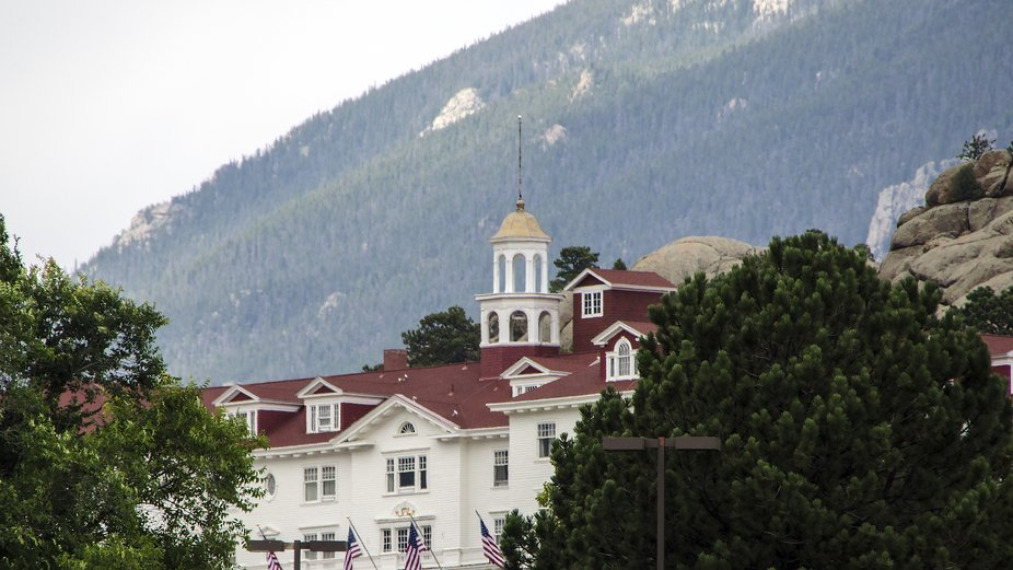 """Location site for the filming of """"The Shining"""", starring Shelley Duval and Jack..."""
