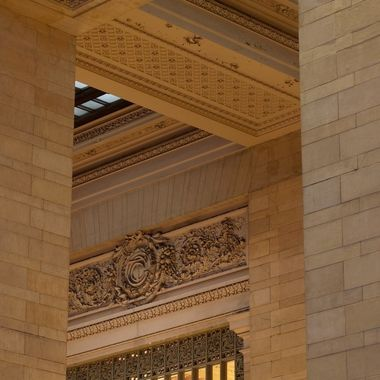 A corner detail in the Grand Central station...
