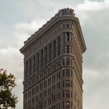 A detail of the Flatiron Building in NYC.  Such a great site to shoot.