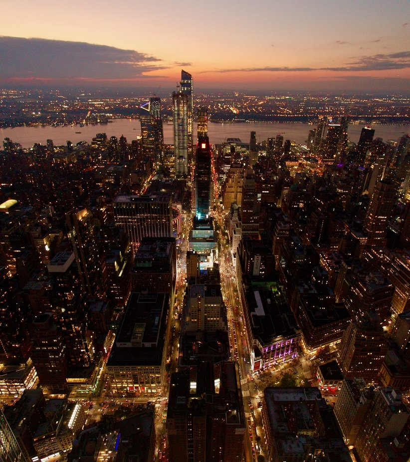 Sunset and City Lights by MarkWKeating - Bright City Lights Photo Contest