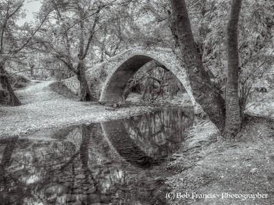 Cyprus -Venetian Bridge in black and white