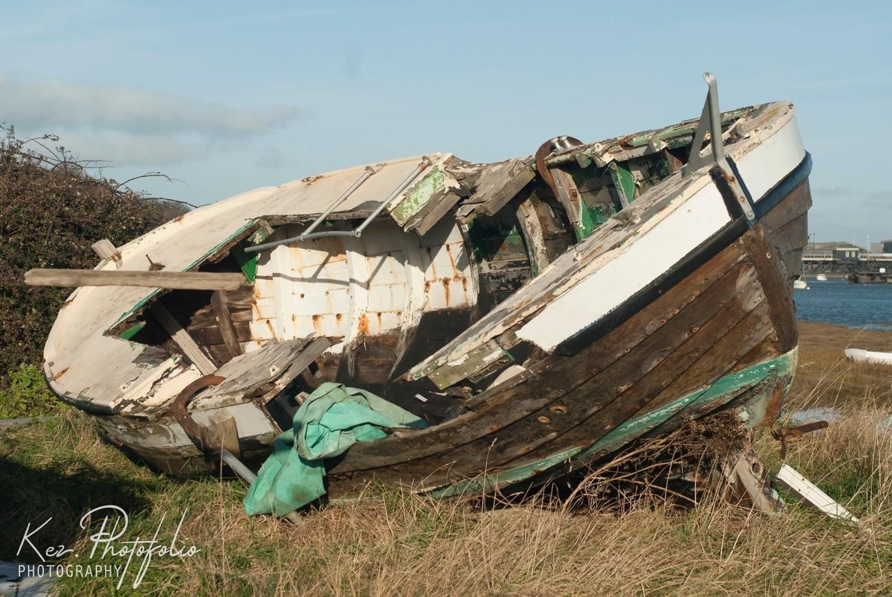 Wreck on Tummerhill Marsh, Walney Island