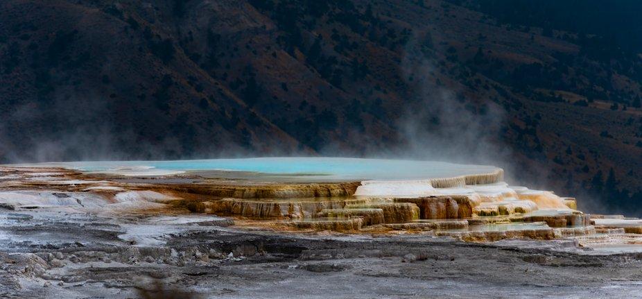 Mammoth hot springs, Yellowstone, WY