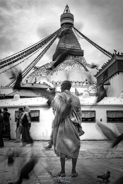 Nepalese Monk II Kahtmandu Nepal
