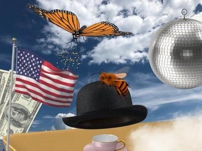 American Magritte still life